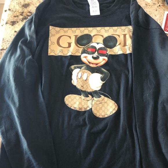 121b1be0a Gucci Shirts | Bootleg Mickey Mouse Long Sleeve | Poshmark